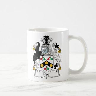 Roe Family Crest Mugs