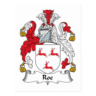 Roe Family Crest Postcard