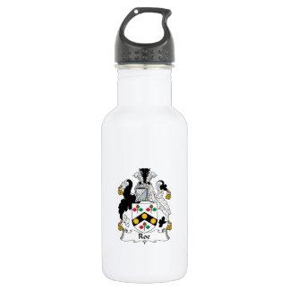 Roe Family Crest Stainless Steel Water Bottle