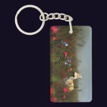 Roe in a Meadow Acrylic Keychain