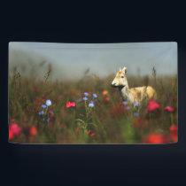Roe in a Meadow Banner