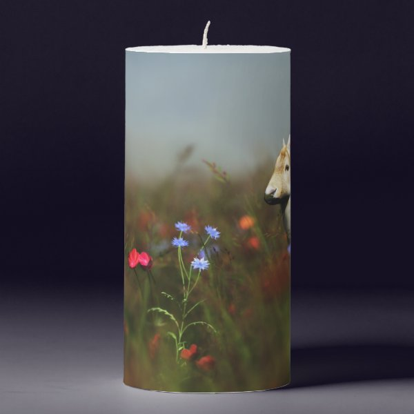 Roe in a Meadow Candle