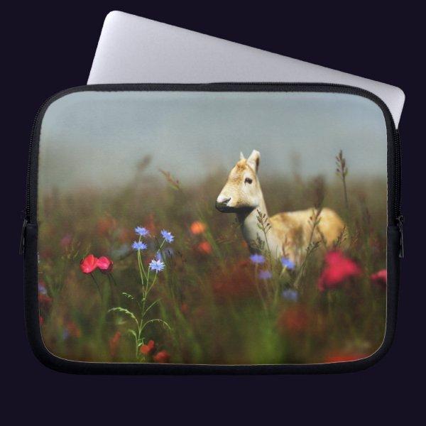Roe in a Meadow Laptop Sleeve
