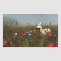 Roe in a Meadow Stickers