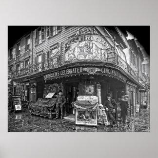 ROEBER'S SALOON - MANHATTAN - 1908 POSTER
