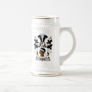Roed Family Crest 18 Oz Beer Stein