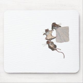Roedores felices blancos tapetes de ratones