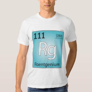 Roentgenium (Rg) Element T-Shirt - Front Only