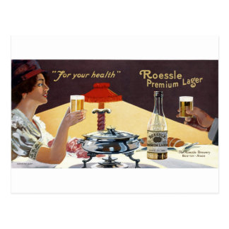 Roessle Premium Lager Postcard
