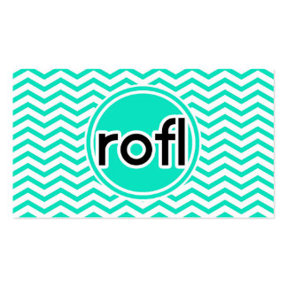 rofl; Aqua Green Chevron Business Card