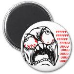 rofl estupendo del meme de la cara de la rabia imán