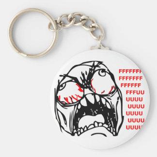 rofl estupendo del meme de la cara de la rabia llavero redondo tipo pin