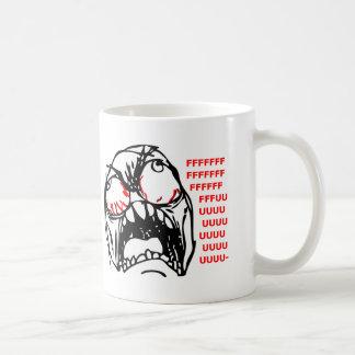 rofl estupendo del meme de la cara de la rabia taza de café