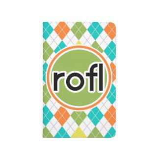 rofl; Modelo colorido de Argyle Cuadernos Grapados