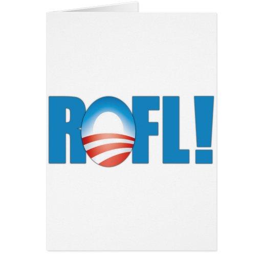 ROFL Obama anti Tarjeta De Felicitación