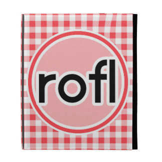 rofl Red and White Gingham iPad Case