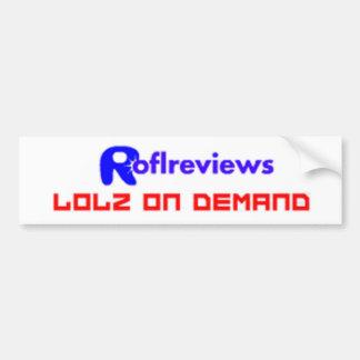 Rofl Reviews Car Bumper Sticker