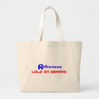 Rofl Reviews Large Tote Bag