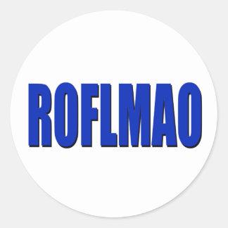 ROFLMAO blue Classic Round Sticker