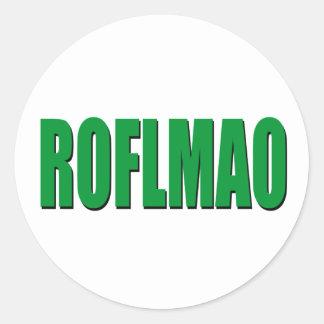 ROFLMAO green Classic Round Sticker