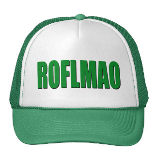 ROFLMAO green Trucker Hat