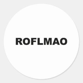 ROFLMAO PEGATINA REDONDA