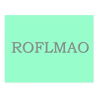 ROFLMAO POSTCARD