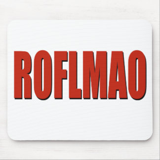 ROFLMAO RED MOUSE MAT