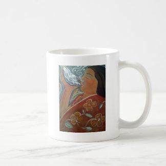 Rogación con agua tazas de café