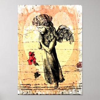 Rogación y corazón del ángel póster