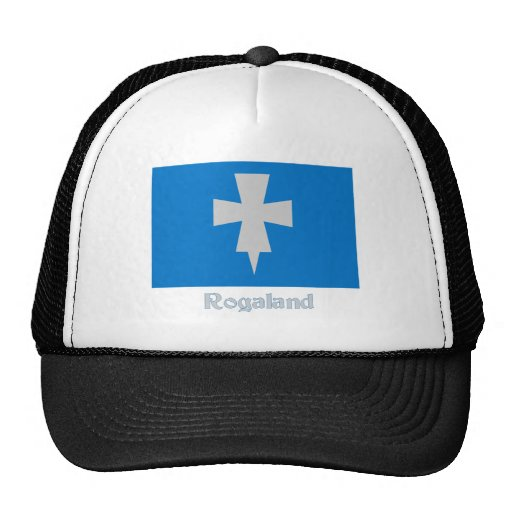 Rogaland flag with name trucker hat
