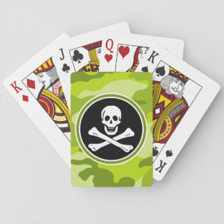 Rogelio alegre; camo verde claro, camuflaje baraja de póquer