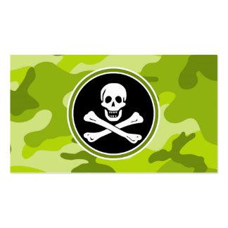 Rogelio alegre; camo verde claro, camuflaje tarjetas de visita