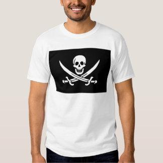 Rogelio alegre del calicó Jack Rackham (NEGRO) Camisas