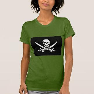 Rogelio alegre del calicó Jack Rackham NEGRO Camiseta