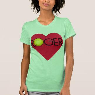 ROGELIO con el corazón y la pelota de tenis Camiseta