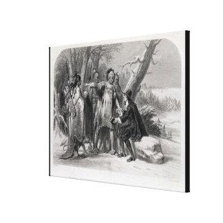Rogelio Williams abrigado por el Narragansetts Impresiones De Lienzo