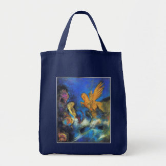 Roger & Angelica 2 by Odilon Redon Grocery Tote Bag