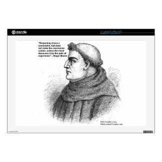 """Roger Bacon & Experience Quote Gifts Tees & Cards 17"""" Laptop Decal"""
