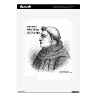 Roger Bacon & Experience Quote Gifts Tees & Cards Decals For iPad 3