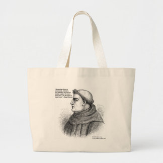 Roger Bacon & Experience Quote Gifts Tees & Cards Large Tote Bag