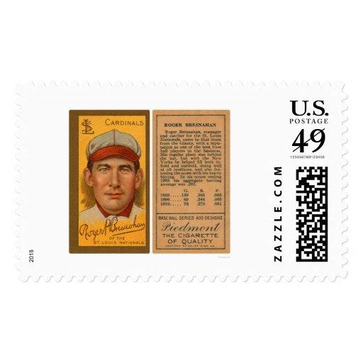 Roger Bresahan Cardinals Baseball 1912 Stamp