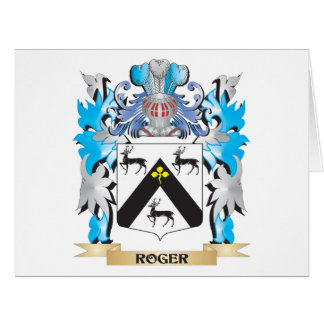 Roger Coat of Arms - Family Crest Greeting Cards
