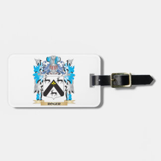 Roger Coat of Arms - Family Crest Bag Tag