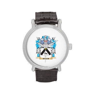 Roger Coat of Arms - Family Crest Wrist Watches