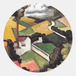 Roger Fresnaye- Factory Chimney, Meulan Landscape Stickers