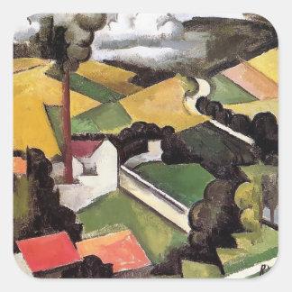 Roger Fresnaye- Factory Chimney, Meulan Landscape Sticker