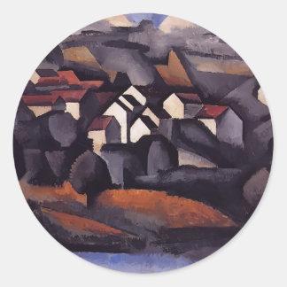 Roger Fresnaye- Landscape at Ferte Soud Jouarre Round Sticker
