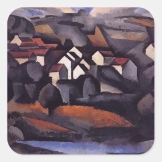 Roger Fresnaye- Landscape at Ferte Soud Jouarre Square Stickers