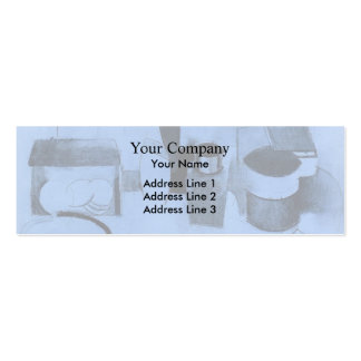 Roger Fresnaye-StillLife,Tin of Tea,Pot of Tobacco Business Card Templates
